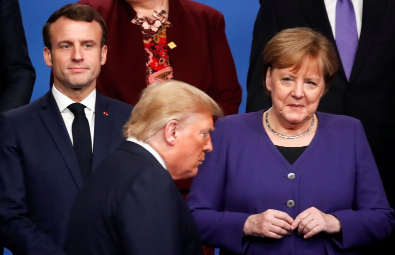 Donald Trump Between Macron and Merkel NATO