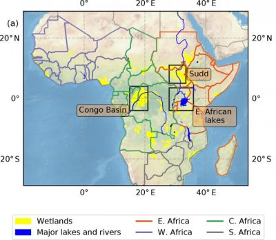 map of methane in Africa