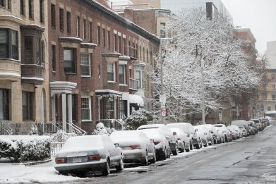 First Winter Storm Of The Season Hits Northeast