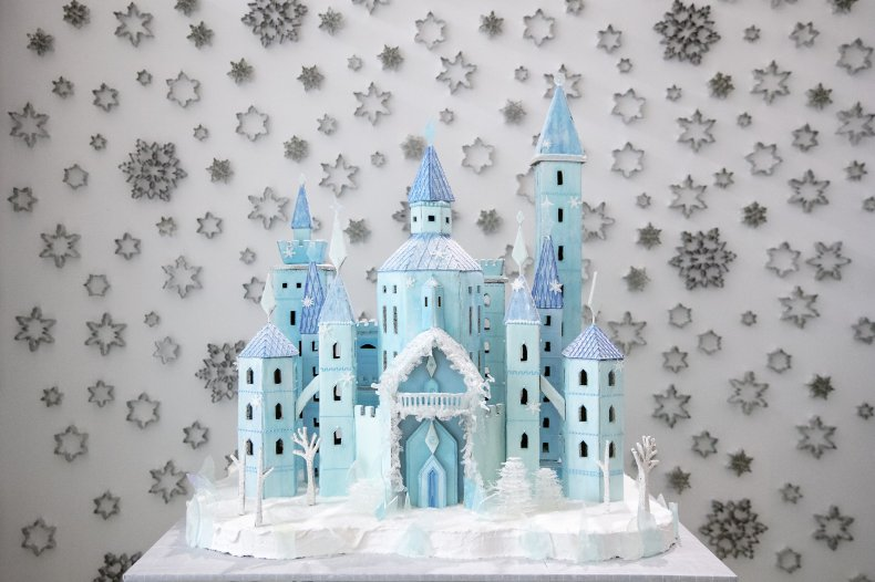gingerbread ice castle