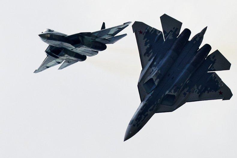 russia su57 fighter jet maks airshow
