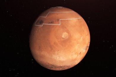 mars landing map