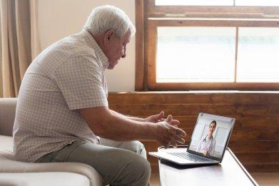 Elderly man telehealth