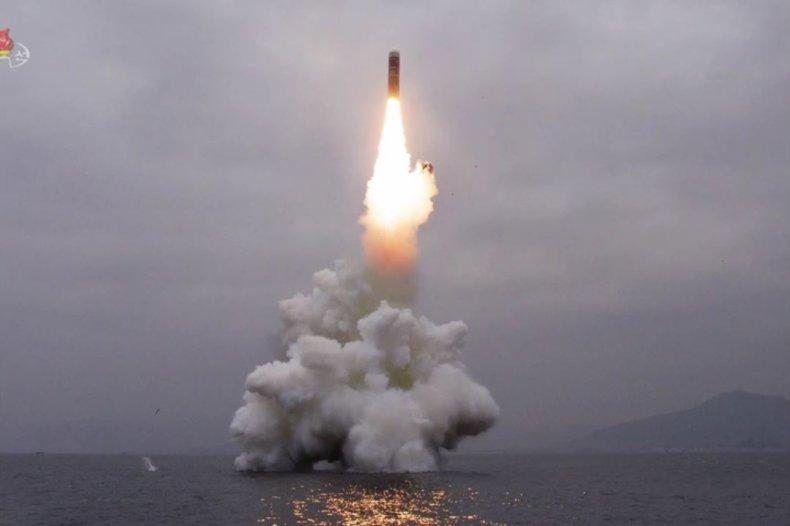 north korea submarine ballistic missile test