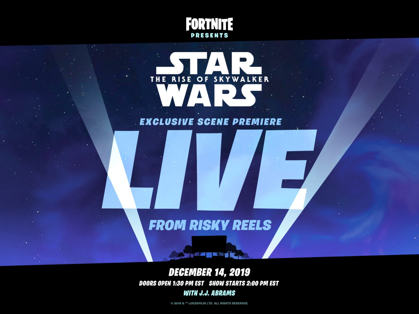 Fortnite Star Wars The Rise Of Skywalker Live Event Countdown