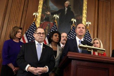 Adam Schiff and Democratic leaders