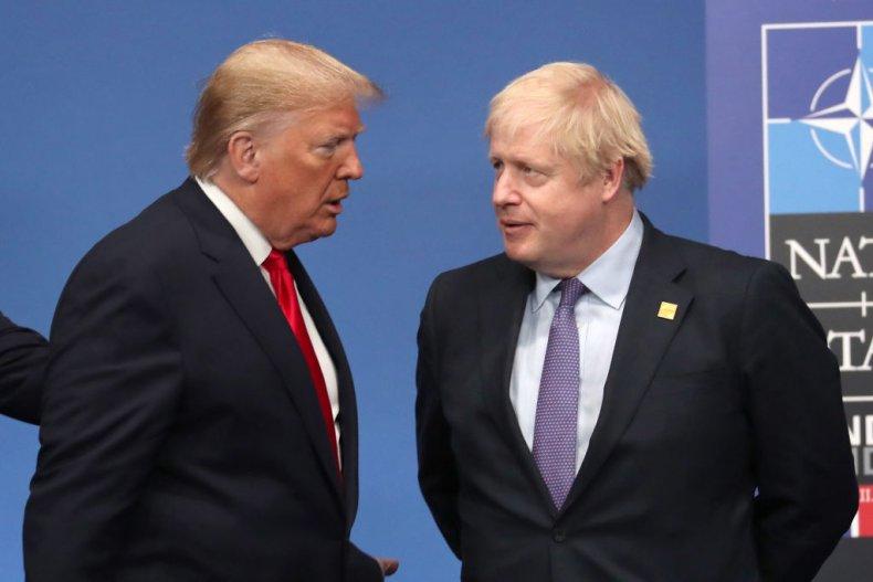 Donald Trump and Boris Johnson NATO