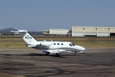 Cessna plane New Mexico airport September 2019
