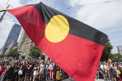 Australian aborigine flag