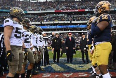 Donald Trump at Navy-Army Football Game 2019