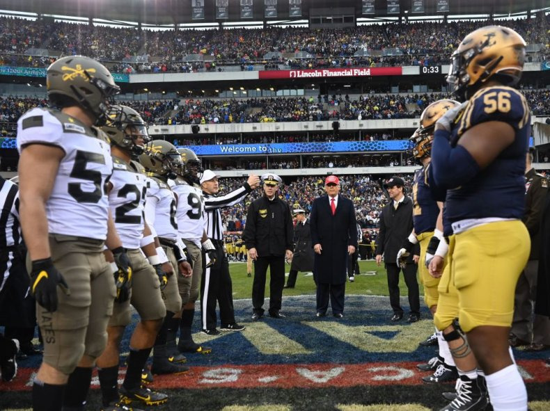 Donald Trump at Navy-Army Football Game 2019