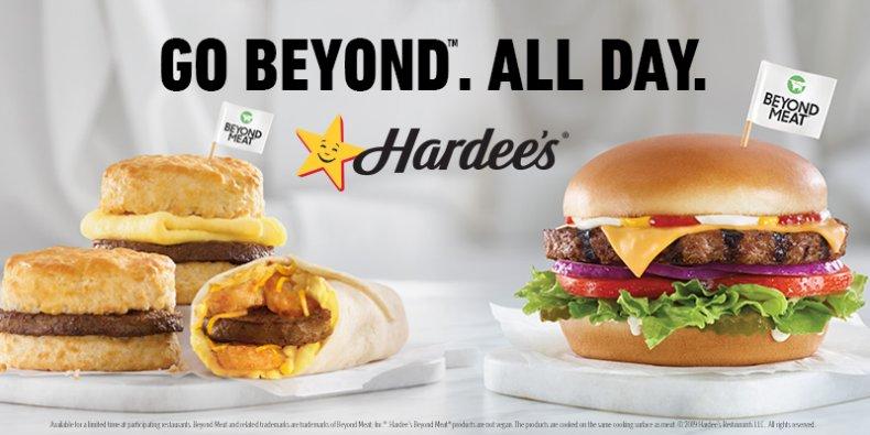 Hardee's' Beyond Meat Menu