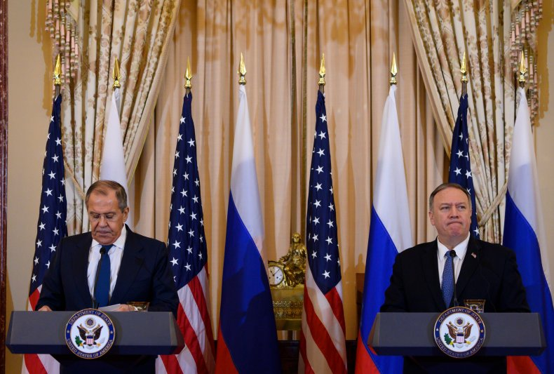 Sergey Lavrov and Mike Pompeo