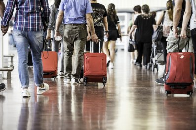 airport, travel, suitcase, stock, getty