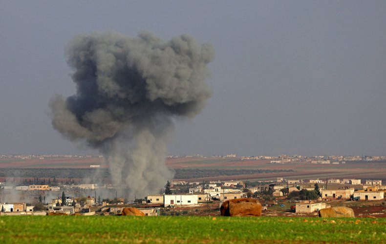 syria, military, strike, idlib, offensive