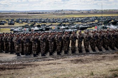 russia china military joint drills east