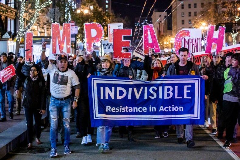 Donald Trump impeachment rally protest House vote