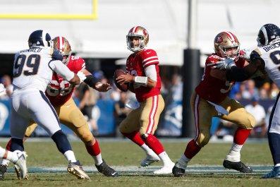 Jimmy Garoppolo, San Francisco 49ers, Los Angeles Rams