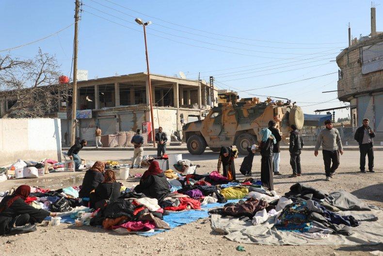 turkey, military, convoy, north, syria, kurds