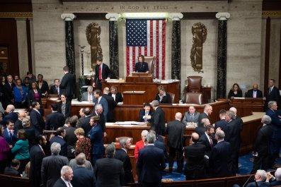 House, impeachment, vote, Donald Trump, record, largest