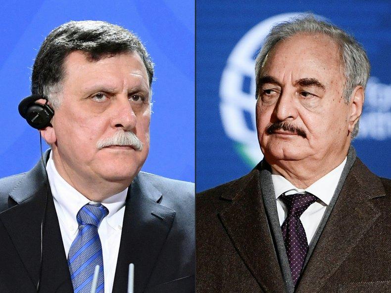 sarraj, haftar, libya, civil, war, leaders