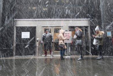 Snow squall new york city