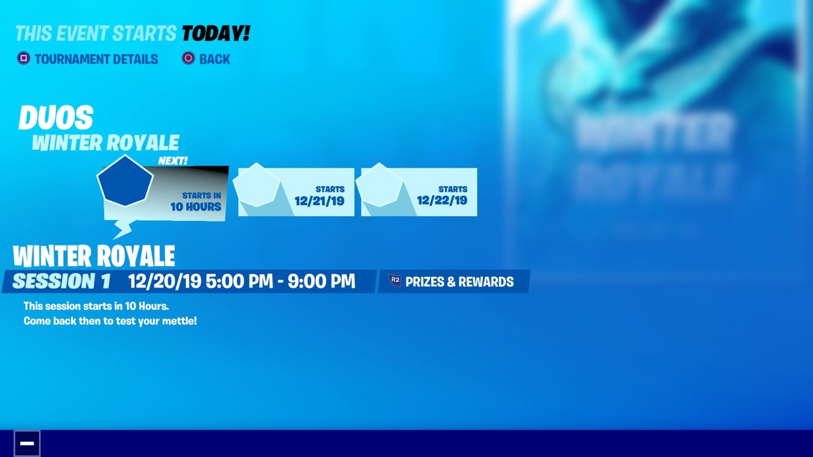 Heat 1 Fortnite Winter Royale Fortnite Winter Royale 2019 Start Time Standings Rules Duos How To Watch