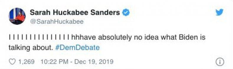 Sarah Huckabee Sanders Tweet