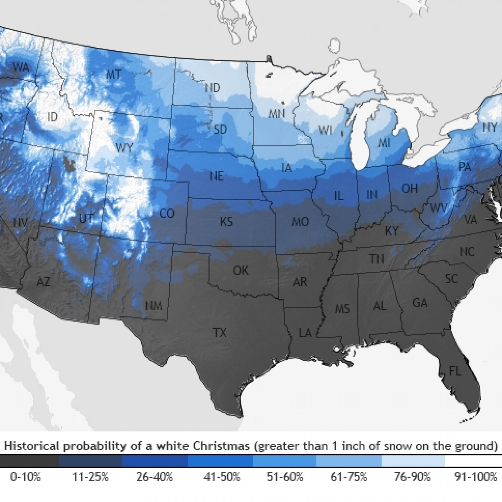 Weathrr For Christmas 2020 Pennsylvania Will It Snow on Christmas Day? Weather Forecast for December 25, 2019