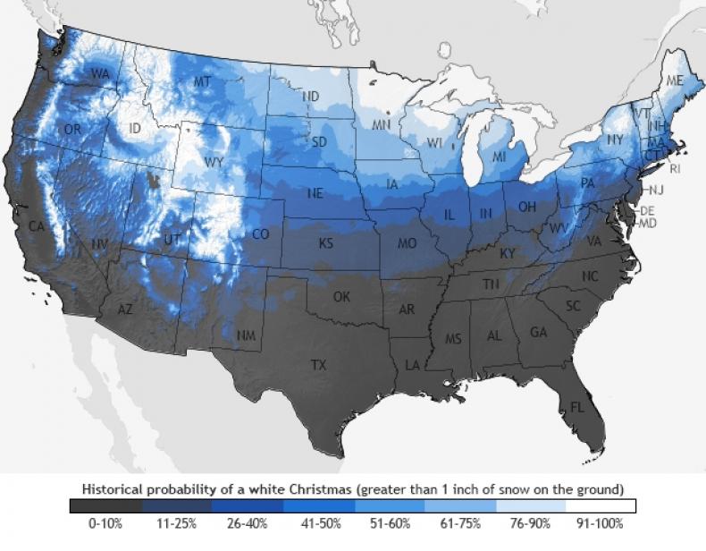 White Christmas History NOAA