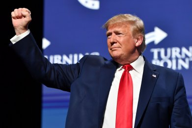Donald Trump, respect, dictators, Turning Point USA