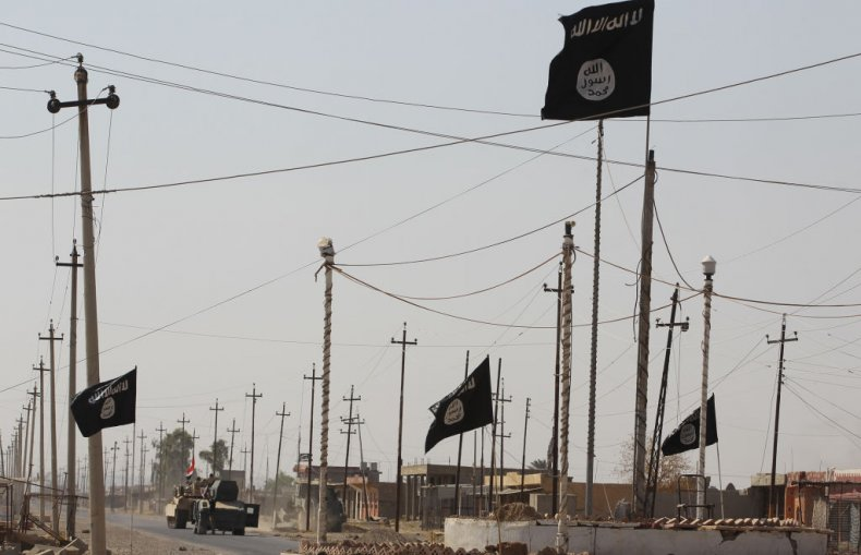 ISIS flags in Iraq