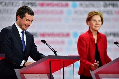 Warren, Buttigieg Spar in Sixth Democratic Debate