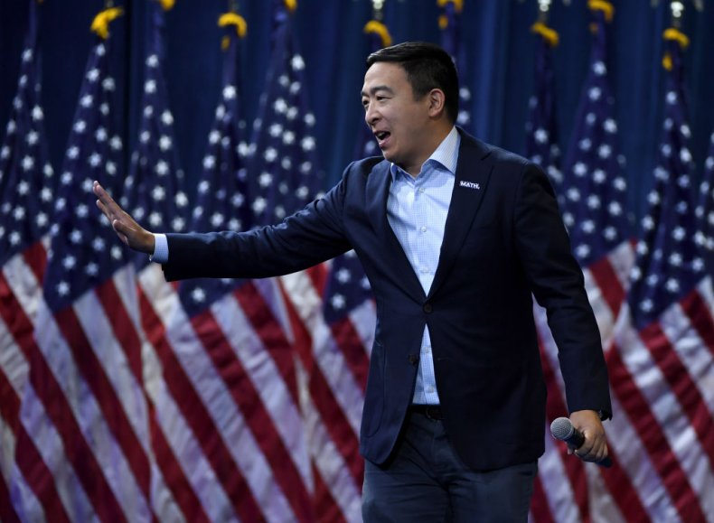 Andrew Yang at Gun Control Event