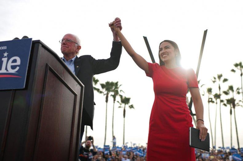 Bernie Sanders and AOC