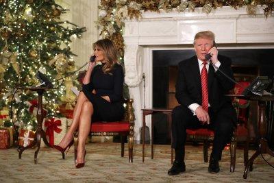 donald trump melania white house christmas eve