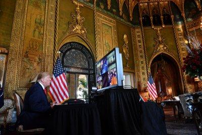 Donald Trump Calls Troops Christmas Eve