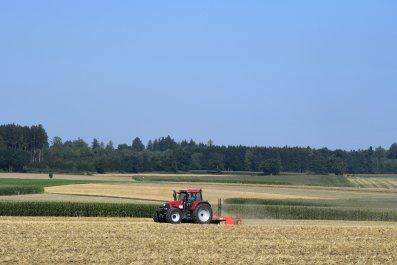 Tractor in German farm