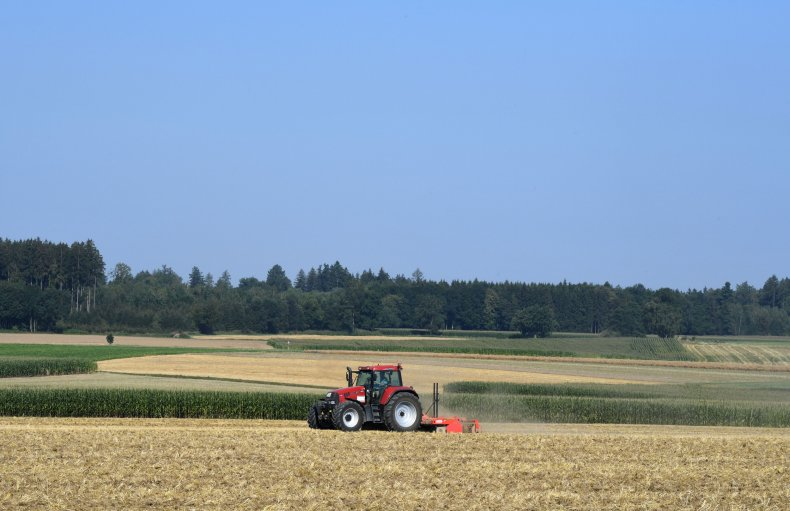 Tractor in German farm