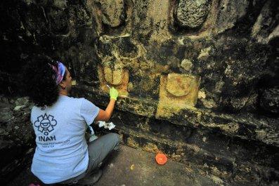 Ancient Mayan Temple, Kulubá