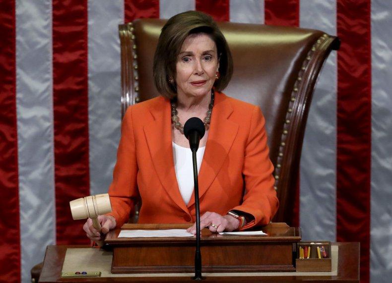 Nancy Pelosi Gavels Impeachment Resolution Vote