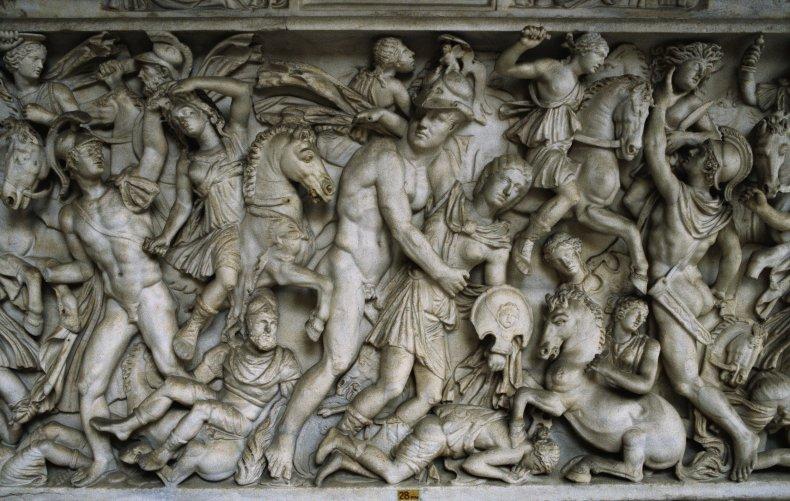 Roman relief of Amazons
