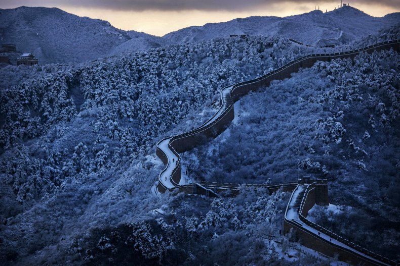 Beijing Great Wall of China 2015 winter