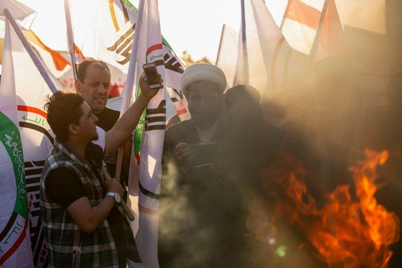 iraq, protests, us, strikes, hezbollah, militia