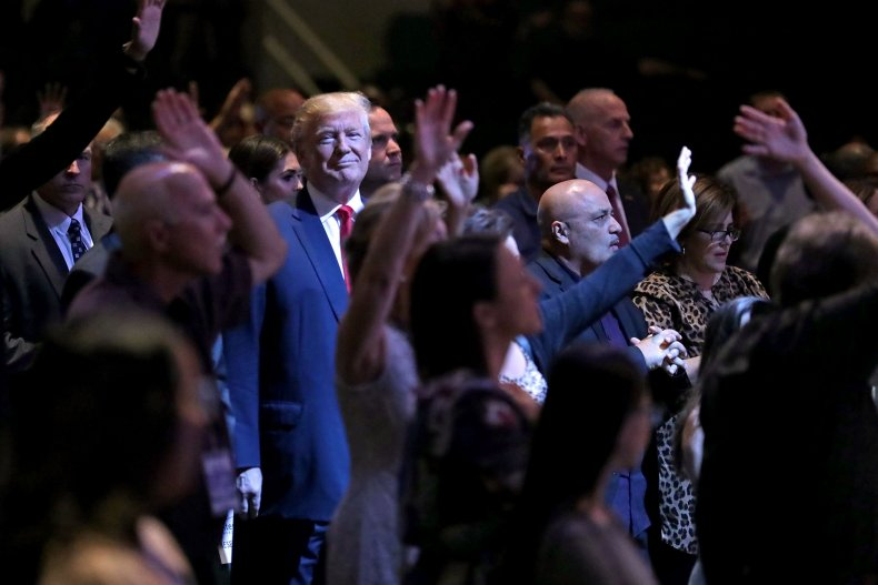 Donald Trump Visits Church In Las Vegas