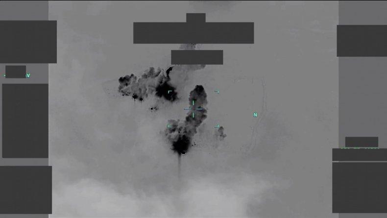 us, military, iraq, strikes, video, hezbollah, brigades