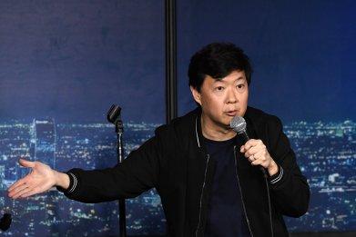 Ken Jeong performing at comedy club