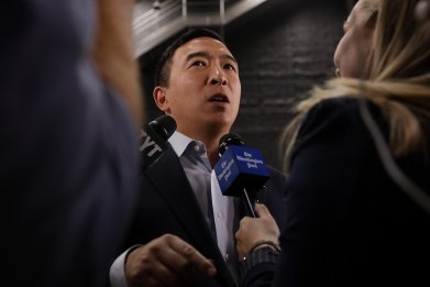 DNC rejects Andrew Yang request more polls