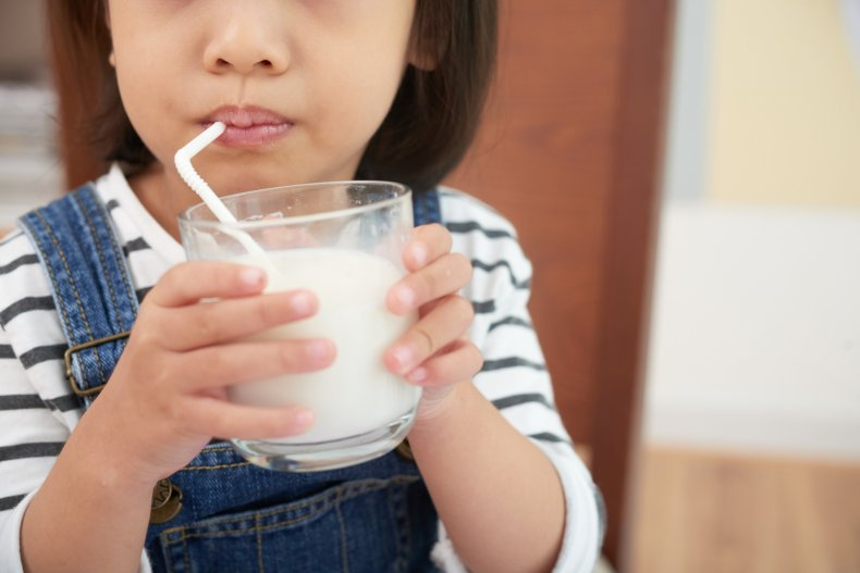 milk, child, kid, stock, getty, girl,