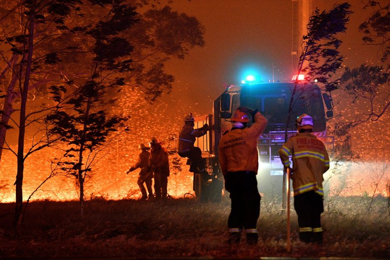 australia wildfire map victoria new south wales